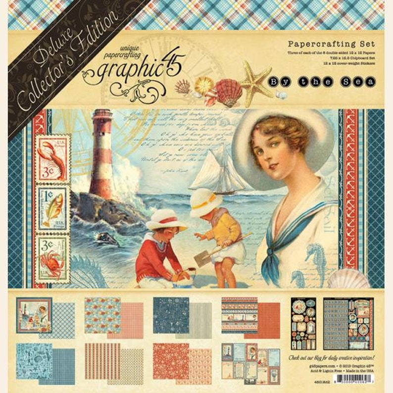 NOW SHIPPING Graphic 45 By The Sea Collection Pack SC007875 image 0