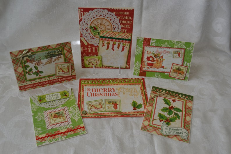 Handmade Christmas Cards Graphic 45 Twas The Night Before image 0