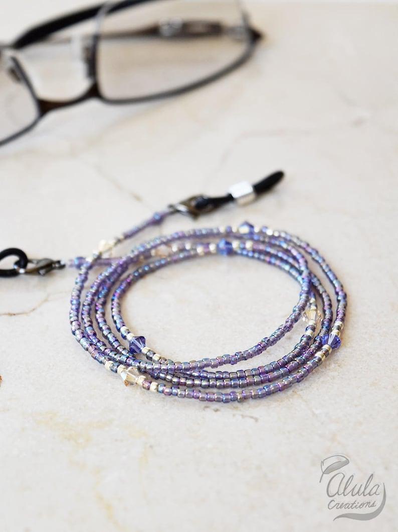 ce461dc1efd7 Swarovski Eyeglasses Chain Eyeglass Holder Necklace Reading