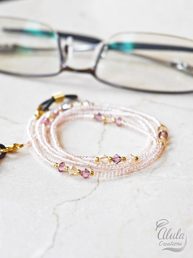 Swarovski Eyeglasses Chain Eyeglass Holder Necklace Reading image 0
