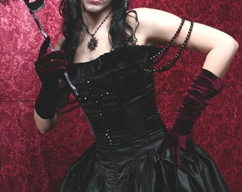 Renaissance Style Corset Gown in Silk or Satin Custom Sized Blood Countress Vampire Queen  CUSTOM ORDERS OPEN