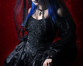 Gothic Gown wedding fairytale rococo in Satin Steampunk Romantic Renaissance Custom Sized CUSTOM ORDERS OPEN