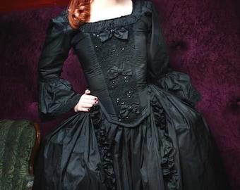Rococo 18th Century Gown in Silk Taffeta Custom Sized Steel Boned Silken Dream Gown CUSTOM ORDERS OPEN