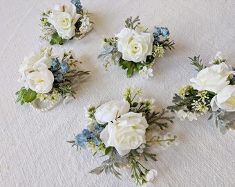 Corsage, Wedding Flowers, Silk Flowers, Wedding Corsage, Silk Flower Corsage, Flower Corsage, The Faux Bouquets
