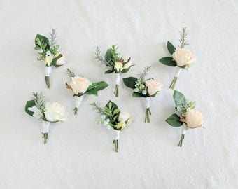 Boutonniere, Wedding Flowers, Silk Flowers, Wedding Boutonniere, Silk Flower Boutonniere, Flower Boutonniere, The Faux Bouquets