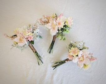 Wedding Bouquet, Bridesmaid Bouquet, Wedding Flowers, Silk Flower Bouquet, Silk Flowers, Bouquet, Flower Bouquet, The Faux Bouquets