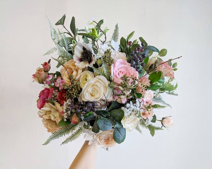 Featured listing image: Wedding Bouquet, Wedding Flowers, Silk Flower Bouquet, Silk Flowers, Bouquet, Flower Bouquet, Bridal Bouquet, The Faux Bouquets