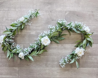 Wedding Garland, Flower Garland, Eucalyptus Garland, Wedding Flowers, Silk Flowers, The Faux Bouquets
