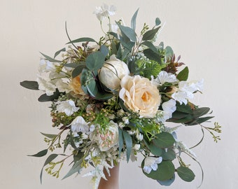 Wedding Bouquet, Bridal Bouquet, Artificial Flower Bouquet, Silk Flower Bouquet,  Flower Bouquet, Wedding Flowers, Silk Flowers, Bouquet