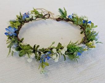 Flower Crown, Silk Flower Crown, Wedding Crown, Bridal Crown, Flower Headpiece, Wedding Flowers, Head Wreath, The Faux Bouquets
