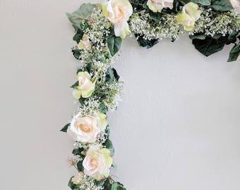 Babies Breath Garland, Flower Garland, Wedding Flowers, Silk Flowers, Floral Garland, Wedding Garland, Silk Flower Garland, Rose Garland