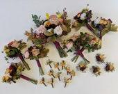 Wedding Flower Package, Wedding Flower Set, Bridal Bouquet, Bridesmaids Bouquet, Boutonniere, Corsage