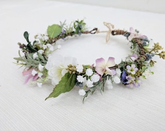 Silk Flower Crown Etsy
