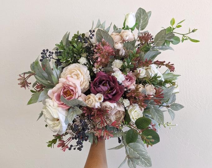 Featured listing image: Wedding Bouquet, Bridal Bouquet, Artificial Flower Bouquet, Silk Flower Bouquet,  Flower Bouquet, Wedding Flowers, Silk Flowers, Bouquet