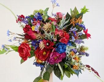 Wedding Bouquet, Bridal Bouquet, Silk Flower Bouquet, Wedding Flowers, Bouquet, Flower Bouquet, Silk Flowers, Brides Bouquet