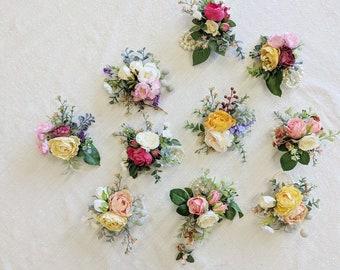 Corsage, Wedding Corsage, Flower Corsage, Succulent Corsage, Rustic Corsage, Silk Flower Corsage, Wedding Flowers, Wedding Package