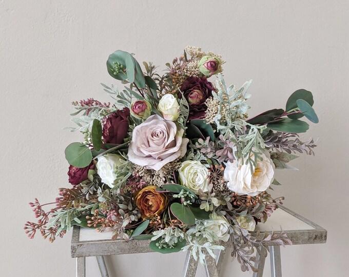 Featured listing image: Bridal Bouquet, Wedding Bouquet, Silk Flowers, Artificial Flower, Wedding Flower Set, Wedding Package, Artificial Wedding Flowers
