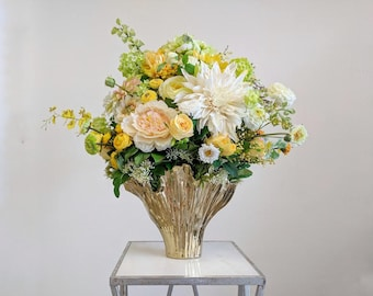 Flower Arrangement, Centerpiece, Wedding Centerpiece, Table Arrangement, Artificial Flowers, Silk Flower Arrangement, Silk Flowers