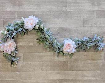 Wedding Garland, Flower Garland, Eucalyptus Garland, Wedding Flowers, Silk Flowers, The Faux Bouquets