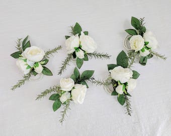 Corsage, Wedding Flowers, Silk Flowers, Wedding Corsage, Silk Flower Corsage, Flower Corsage, The Faux Bouquets