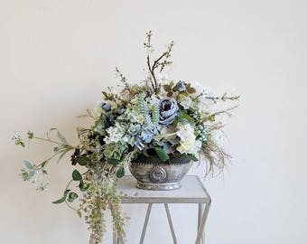 Flower Arrangement, Centerpiece, Home Decor, Table Arrangement, Artificial Flowers, Silk Flowers, Silk Flower Arrangement