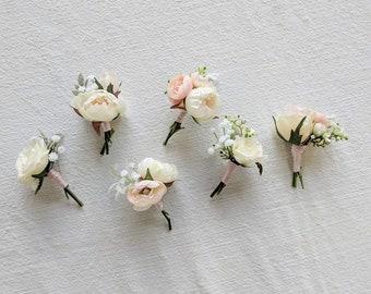 Boutonniere, Wedding Flowers, Silk Flowers, Wedding Boutonniere, Silk Flower Boutonniere, Flower Boutonniere, The Faux Bouquets