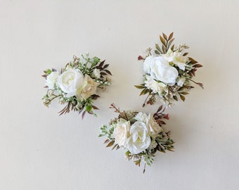 Corsage, Wedding Corsage, Silk Flower Corsage, Flower Corsage, Artificial Flower Corsage, Mother's Corsage, Artificial Wedding Flowers