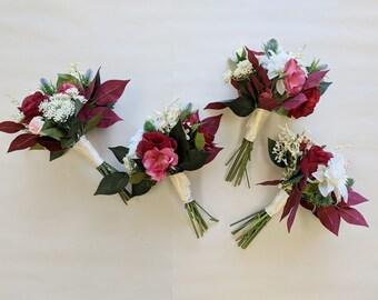 Wedding Bouquet, Bridesmaid Bouquet, Wedding Flowers, Silk Flower Bouquet, Silk Flowers, Bouquet, Flower Bouquet, The Faux Bouquets