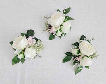Silk flower corsage etsy corsage wedding corsage flower corsage succulent corsage rustic corsage silk flower corsage wedding flowers mothers corsage mightylinksfo