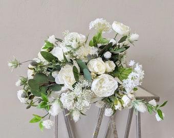 Bridal Bouquet, Wedding Bouquet, Silk Flowers, Artificial Flower, Wedding Flower Set, Wedding Package, Artificial Wedding Flowers