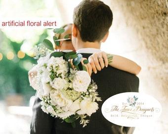Wedding Bouquet, Bridesmaids Bouquet, Wedding Flowers, Boutonniere, Silk Flower Bouquet, Silk Flowers, Floral Garland, The Faux Bouquets