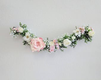 Babies Breath Garland, Flower Garland, Wedding Flowers, Silk Flowers, Floral Garland, Wedding Garland, Silk Flower Garland, Rose Garland