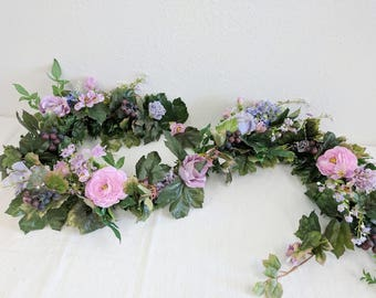 Flower Garland, Wedding Flowers, Silk Flowers, Floral Garland, Wedding Garland, Silk Flower Garland, Rose Garland