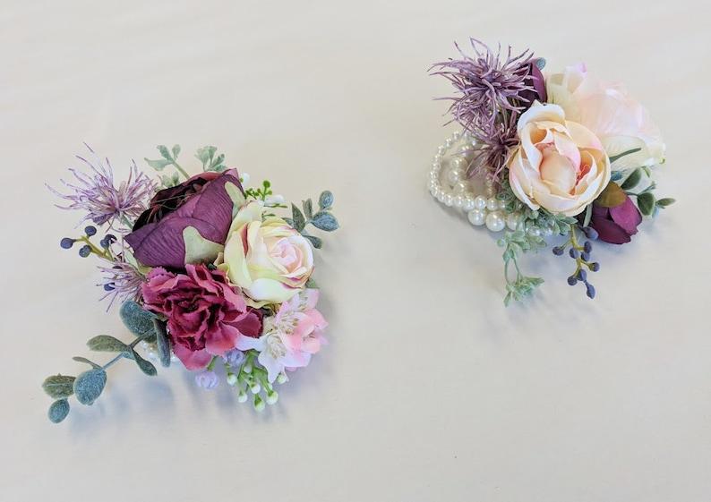 Wedding Flowers Silk Flowers Wedding Corsage Corsage Flower Corsage The Faux Bouquets Silk Flower Corsage