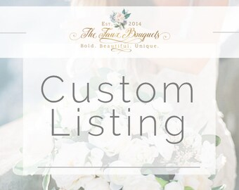 Custom Listing for Shirley