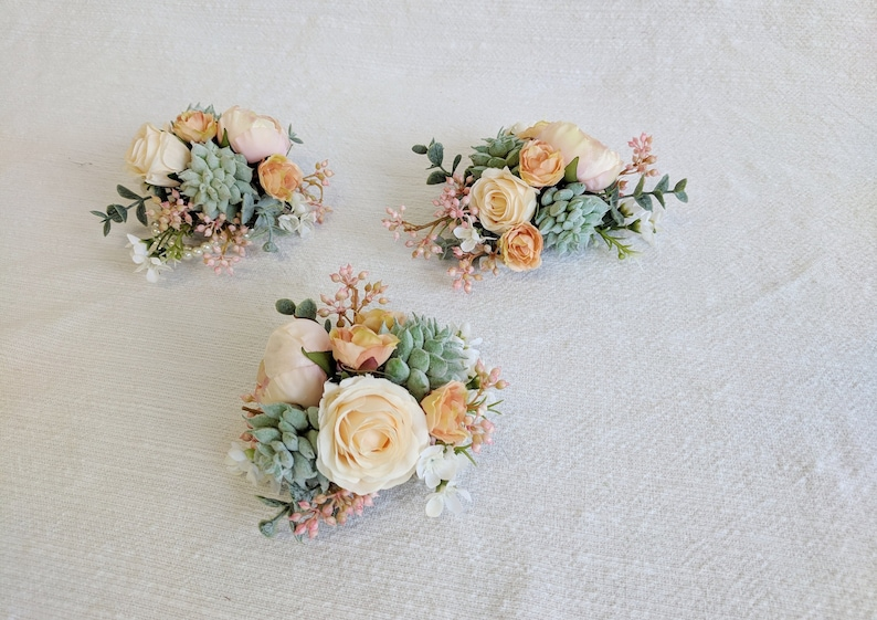 Silk Flowers Wedding Corsage The Faux Bouquets Corsage Wedding Flowers Flower Corsage Silk Flower Corsage