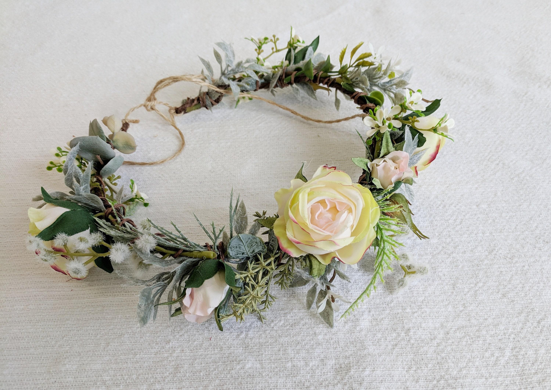 Flower Crown Silk Flower Crown Wedding Crown Bridal Crown Etsy
