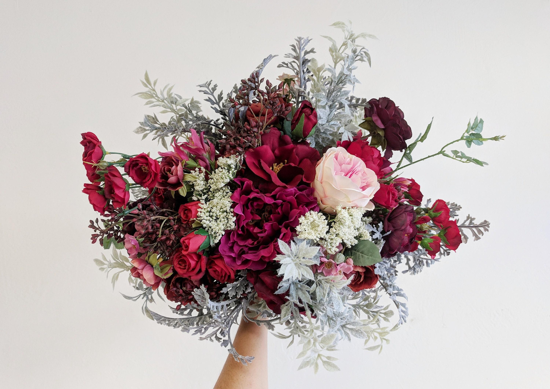 Wedding Bouquet Wedding Flowers Silk Flower Bouquet Silk Flowers