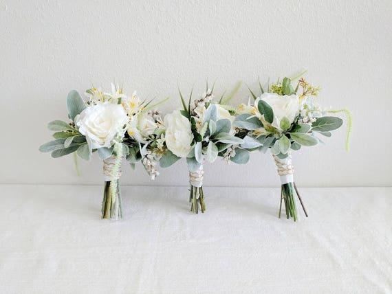 Wedding Bouquet Bridesmaid Bouquet Wedding Flowers Silk Etsy