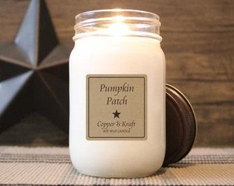 Pumpkin Patch • Fall Candles, Halloween Candle, Pumpkin Candle, Autumn Candle, Soy Candle, Scented Candle, Handmade Candle, Farmhouse Decor