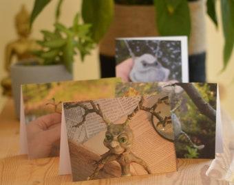 Bundle of Junkpunk Greetings cards eco Recycled