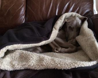 Dog Bed/Dog Snuggle Sack/Snuggle Pod/Warm Dog Bed/Dog Fleece Blanket/Burrow Bed/Dog Sleeping Bag