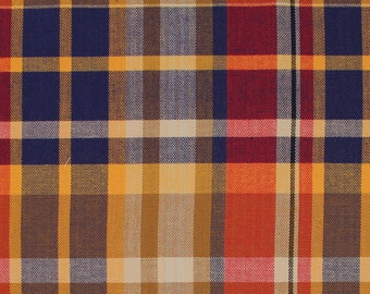 """Allison Cotton Stretch Twill Plaid Suiting Fabric By the Yard """"STTW3F-S093187"""""""