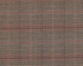 "Luxury Cotton Strtch Twill Plaid Suiting Fabric""STTW3F-CK3210"""