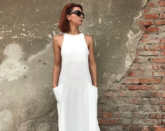 Women White Dress, Plus Size Maxi Dress, Women Dress, White Kaftan, Abaya Dress, Minimalist Dress, Cocktail Dress, Long Dress, Elegant Dress