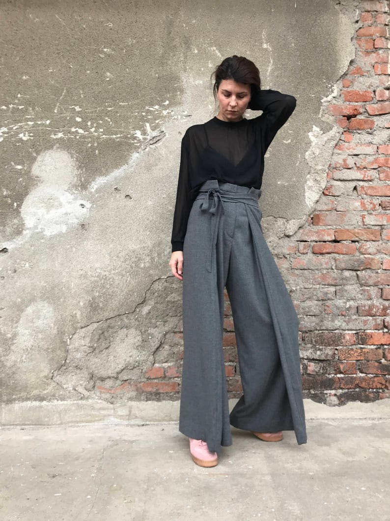 Palazzo Pants High Waist Pants Wide Leg Pants Women Pants Etsy