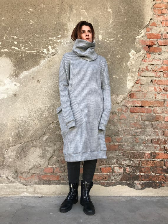 Loose Sweater Women Sweater Dress Maxi Sweater Winter Etsy