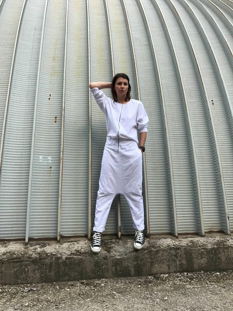 42e963961a8 Women Jumpsuit Linen Jumpsuit White Jumpsuit Women Romper