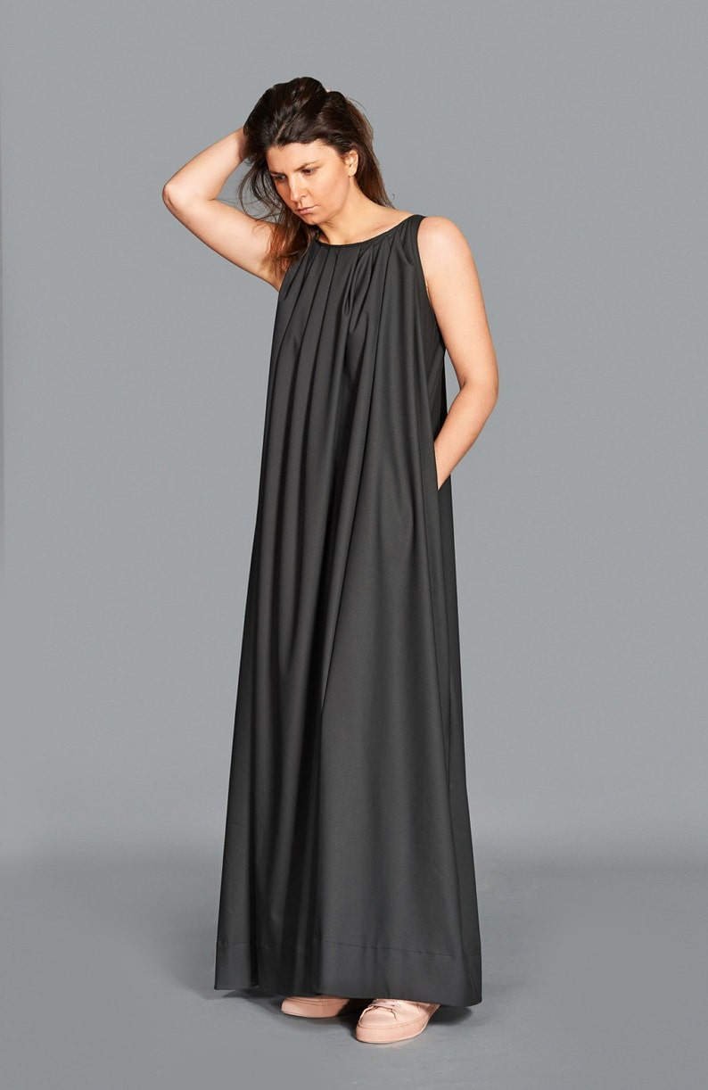 606a18ad75fcb Black Kaftan Dress Black Maxi Dress Long Maternity Dress | Etsy