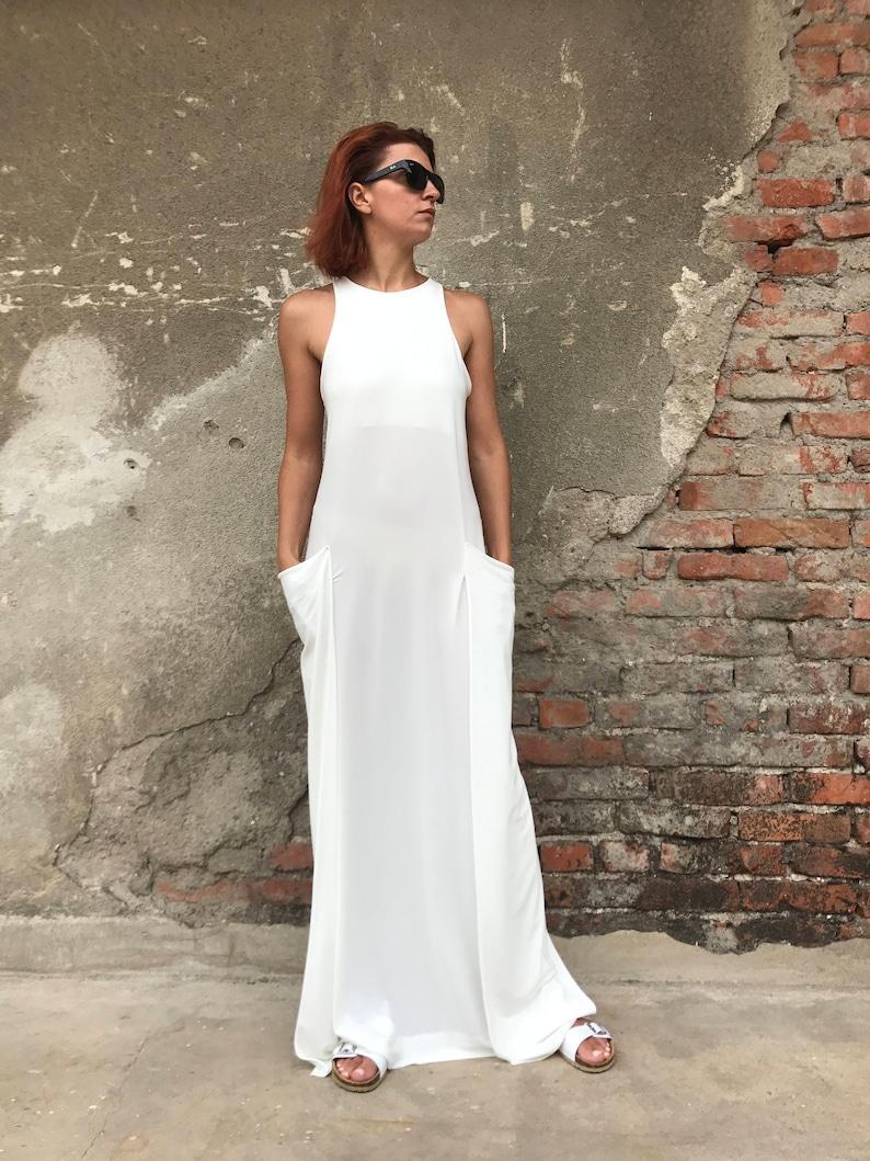 Women White Dress Plus Size Maxi Dress Women Dress White | Etsy